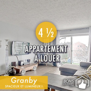 Appartements à louer 4 ½ à Granby impeccable