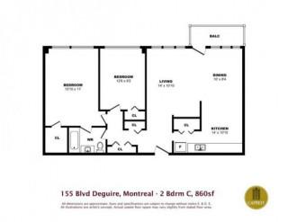 Saint-Laurent Charmant 3 1/2 Appartements Joie De Vivre Disponible maintenant