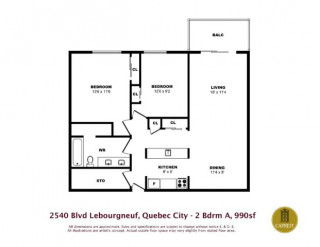 Disponible maintenant Joli 4 1/2 Appartements le Domaine Lebourgneuf Neufchatel Est-Lebourgneuf